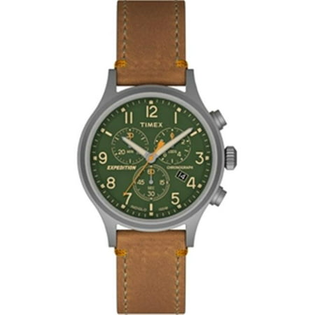 Expedition Scout Chrono Watch, Tan & Green Multi Gemstone Watch