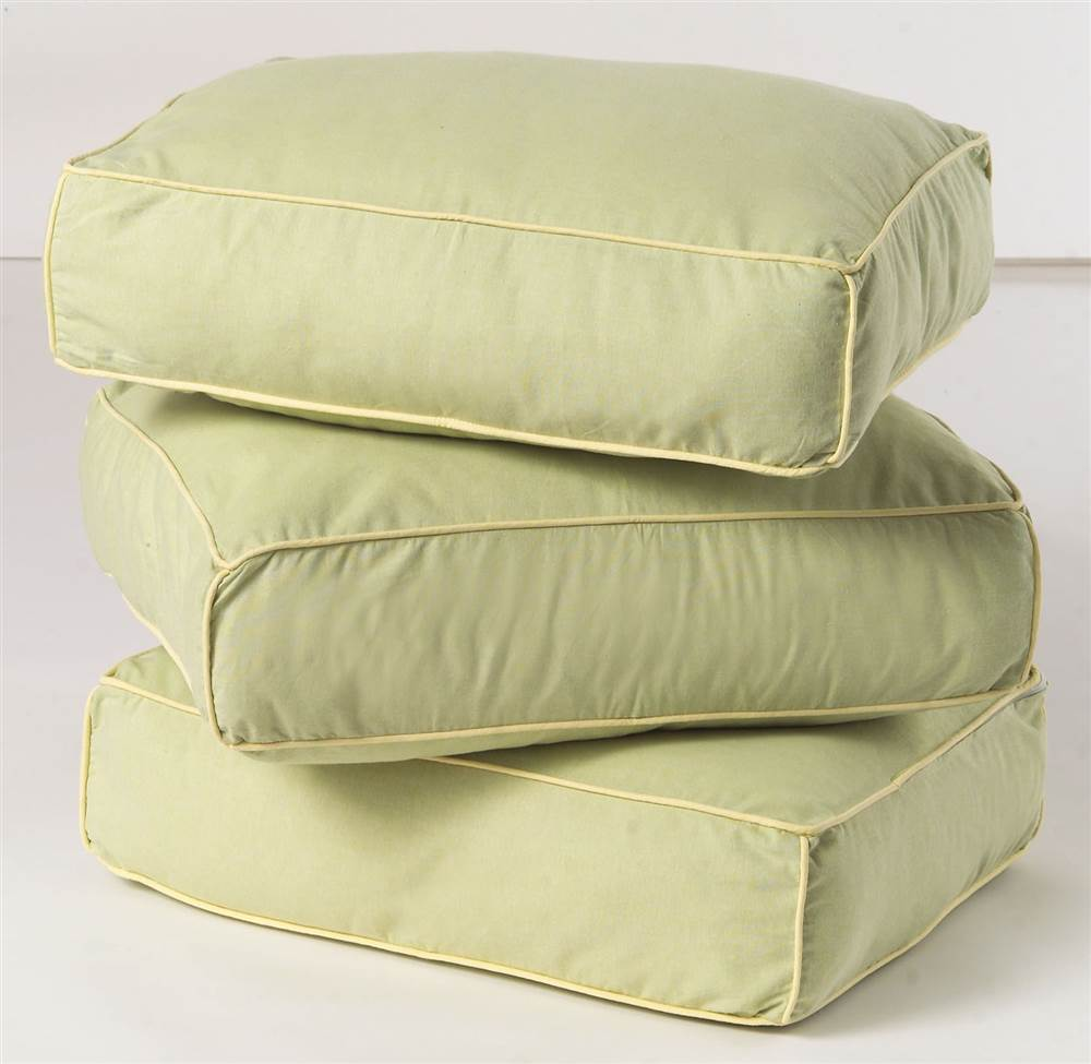 Thick Back Pillow Cores w Removable Cover - Set of 3