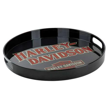 Harley-Davidson B&S Melamine Serving Tray w/ Cut-Out Handles, Black HDX-98501, Harley Davidson ()