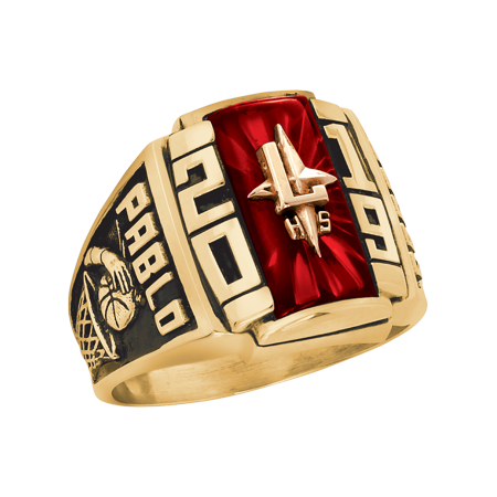 Personalized Men's Crest Class Ring available ináValadium, Two-Tone, Yellow and White Gold (Walmart Graduation Rings)