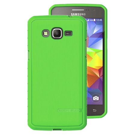 Grand Prime Case, BODY GLOVE SATIN GREEN ANTIMICROBIAL CASE COVER FOR SAMSUNG GALAXY GRAND PRIME SM-G530 (and Grand Prime Duos) (Sprint, T-Mobile, MetroPCS, US Cellular, Cricket) Body Glove Rubber Covers