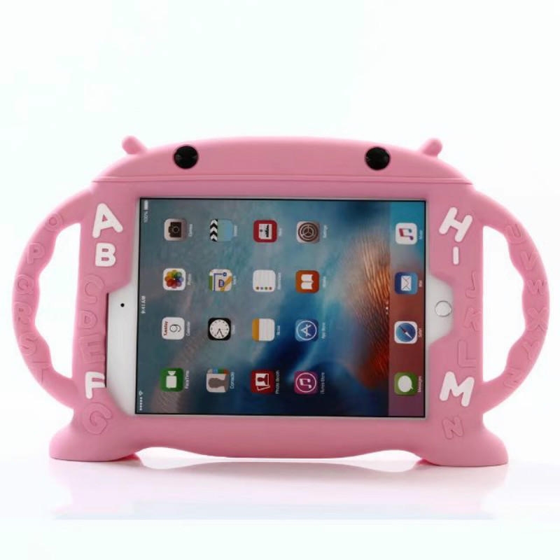 For iPad Air/Air 2/New iPad 9.7/Pro 9.7inch Tablet Shockproof Case, Dteck Kids Safe Rubber Handle Cover, Pink
