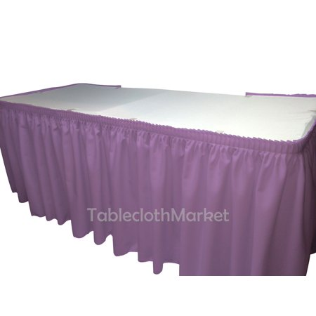 17' Ft. POLYESTER PLEATED TABLE SET SKIRT skirting Trade show 24 colors Catering
