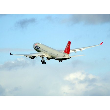 LAMINATED POSTER Northwest Airlines Aircraft Airplane Airbus A330 Poster Print 24 x 36