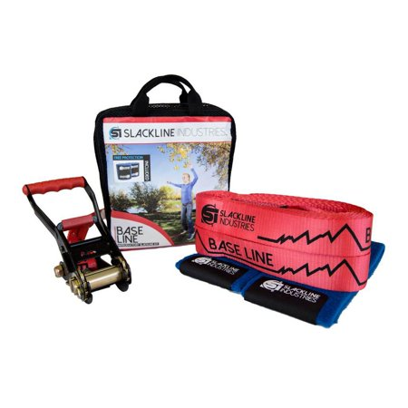 Slackline Industries Baseline Slackline Complete Kit with Tree Protection (1 Slackline)