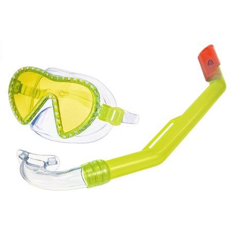 Child Mini Shark Mask & Snorkel Swim Set - Yellow
