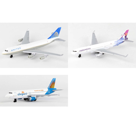 United  Hawaiian  Allegiant Airlines Diecast Airplane Package   Three 5 5   Diecast Model Planes