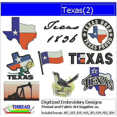 ThreadArt Machine Embroidery Designs Texas(2) CD
