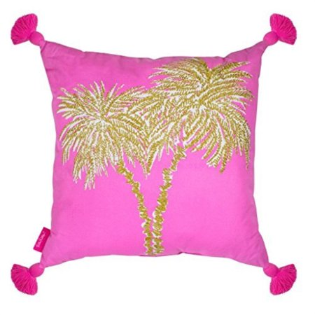 - Lilly Pulitzer Large Pillow, Palms