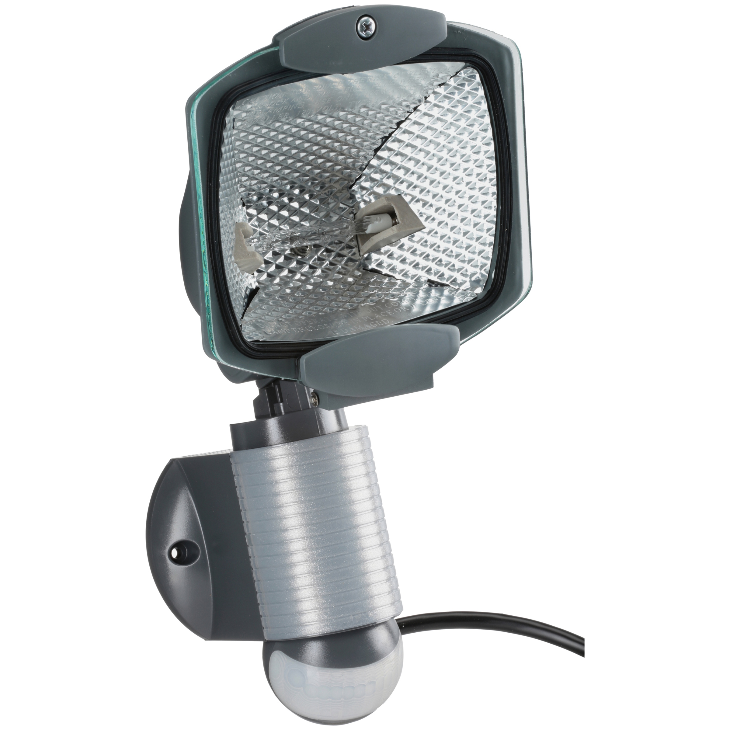 All-Pro 110-Degree Outdoor Grey Quartz Halogen Motion Activated Plug-in Security Light