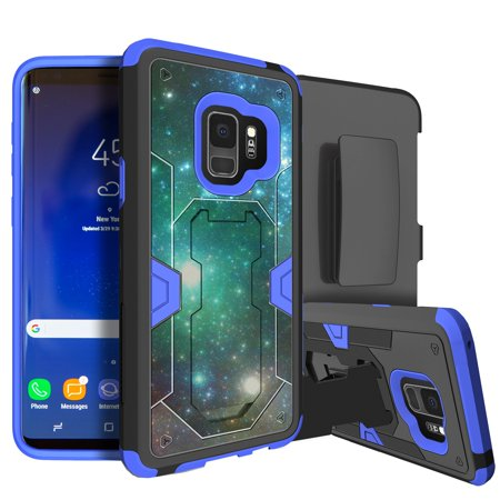 pretty nice db15a 359bb Heavy-Duty Samsung Galaxy S9 Rugged Case [MINITURTLE MAX DEFENSE Case for  Galaxy S9] BLUE SERIES Galaxy S9 Phone Case w/ Advanced Silicone Interior,  ...