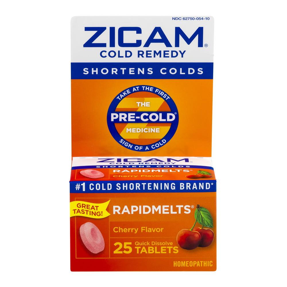 Zicam Cold Remedy Cherry RapidMelts, 25 Ct