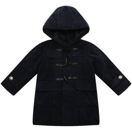 Interior Padding - Richie House Little Girls Black Interior Fleece Hooded Padding Jacket 3-6