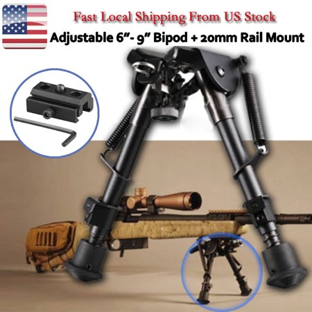 CVLIFE 6-9 Inches Rifle Bipod, Tactical Adjustable Spring Return w/ 20mm Picatinny Rail Mount Adapter, for (Best Inch Bipods)