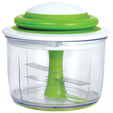Chef'n VeggiChop Hand-Powered Food Chopper (Arugula), Chop large pieces of fruit, vegetables, boneless meats, herbs, nuts, and even ice by hand with this.., By