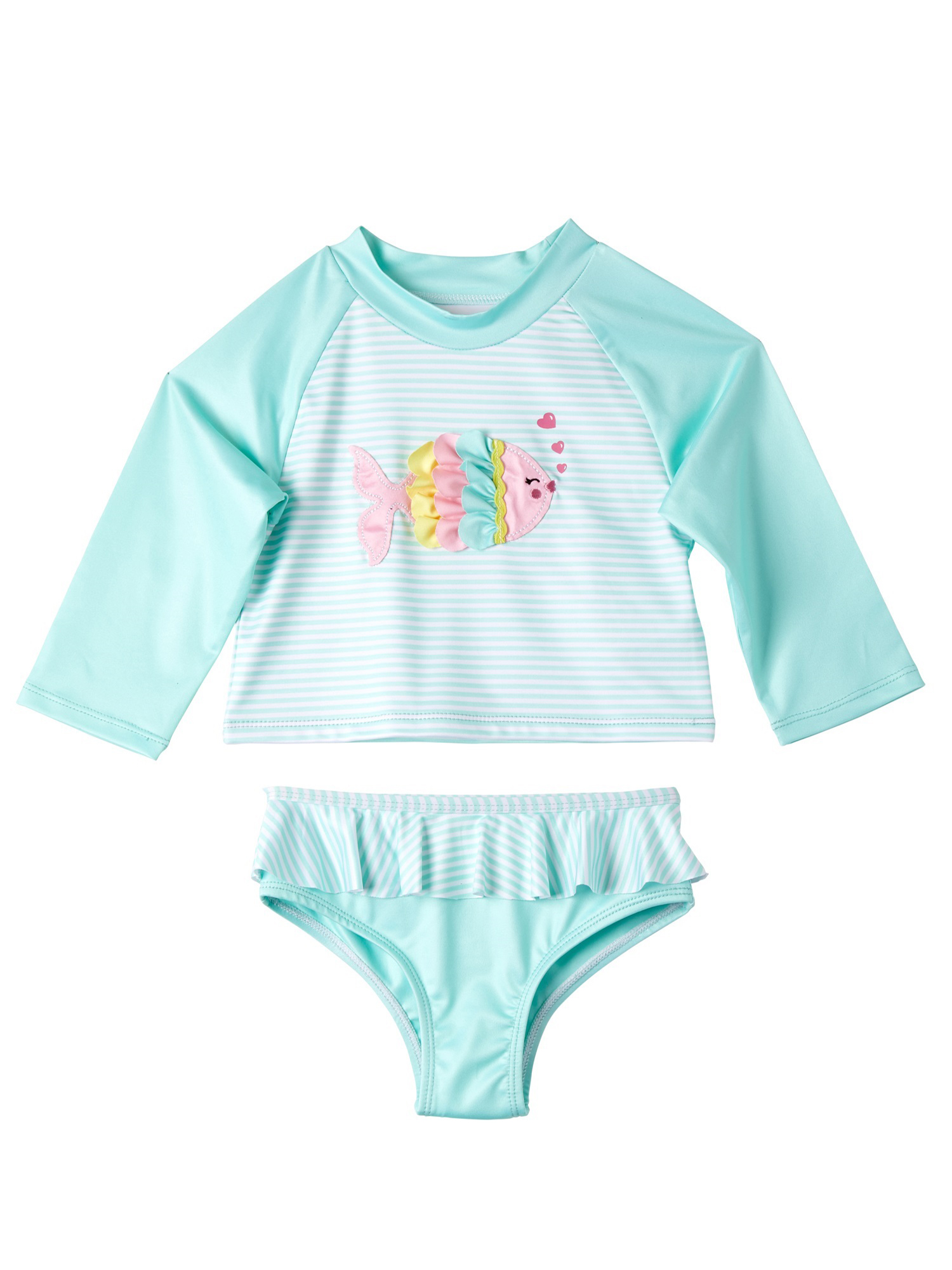 Navy Unicorn Size Toddler 4T Wippette Baby Girls 2-Piece Rash Guard and Bikini Swuimsuit Set Infant//Toddlers