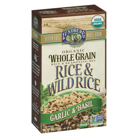 - Lundberg Family Farms Whole Grain Rice And Wild Rice - Pack of 6 - 6 Oz.