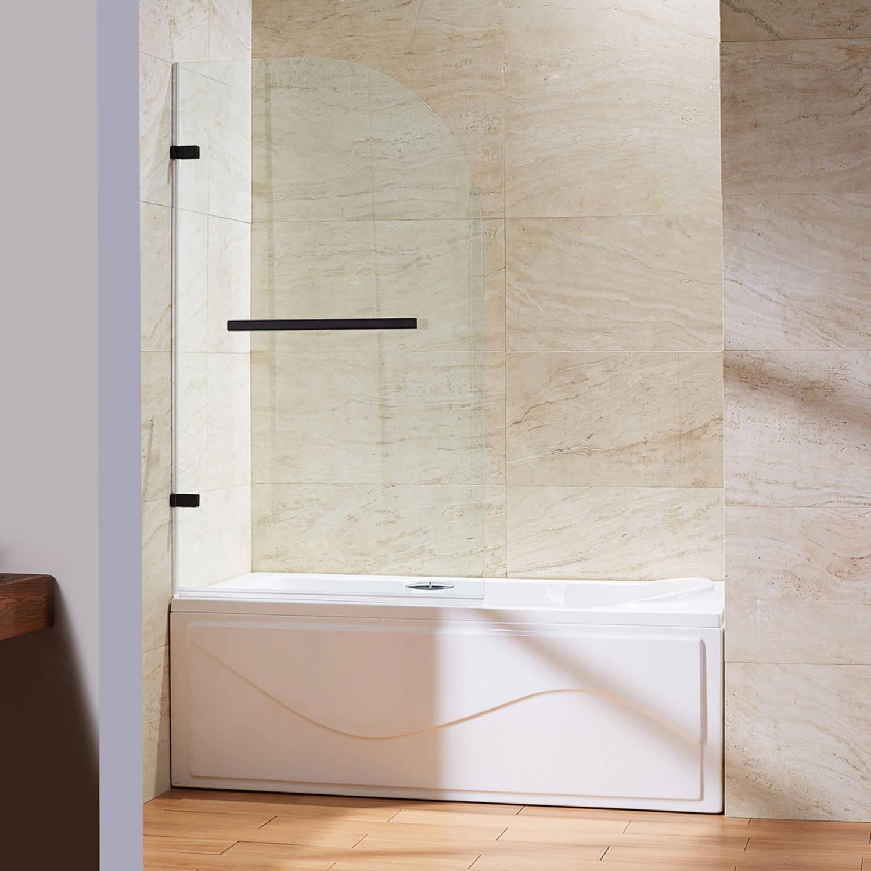 VIGO Orion Clear Curved Bathtub Door In Antique Rubbed Bronze   Walmart.com