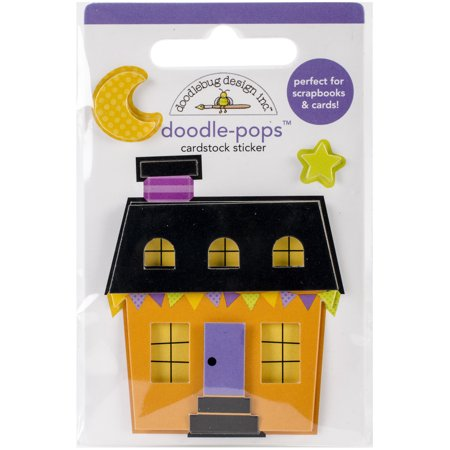Doodlebug Doodle-Pops 3D Stickers-October 31st Halloween House - Friday 31st October Halloween