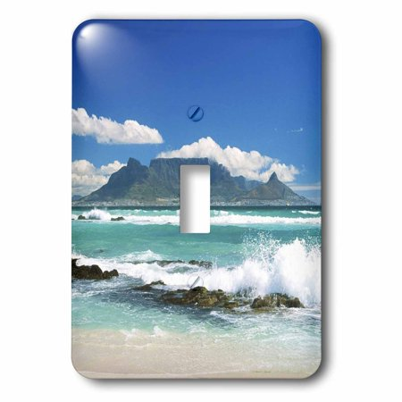 3dRose Beach On South Africa - Single Toggle Switch