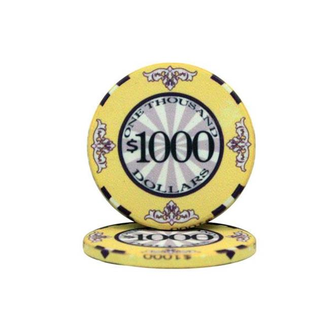 Bry Belly CPSC-$1000 25 Roll of 25 - $1000 Scroll 10 Gram Ceramic Poker Chip