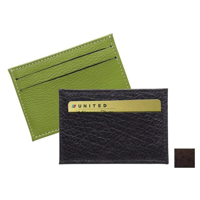 Raika RO 145 MOCHA 2.75in. x 4in. Two-Sided Card Case - Mocha