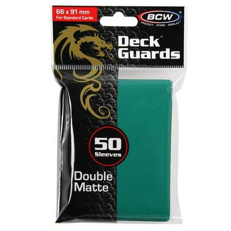 BCW Diversified BCDDGMTEL Deck Protector - Deck Guard, Matte Teal - 50 Sleeves Per Box - image 1 de 1