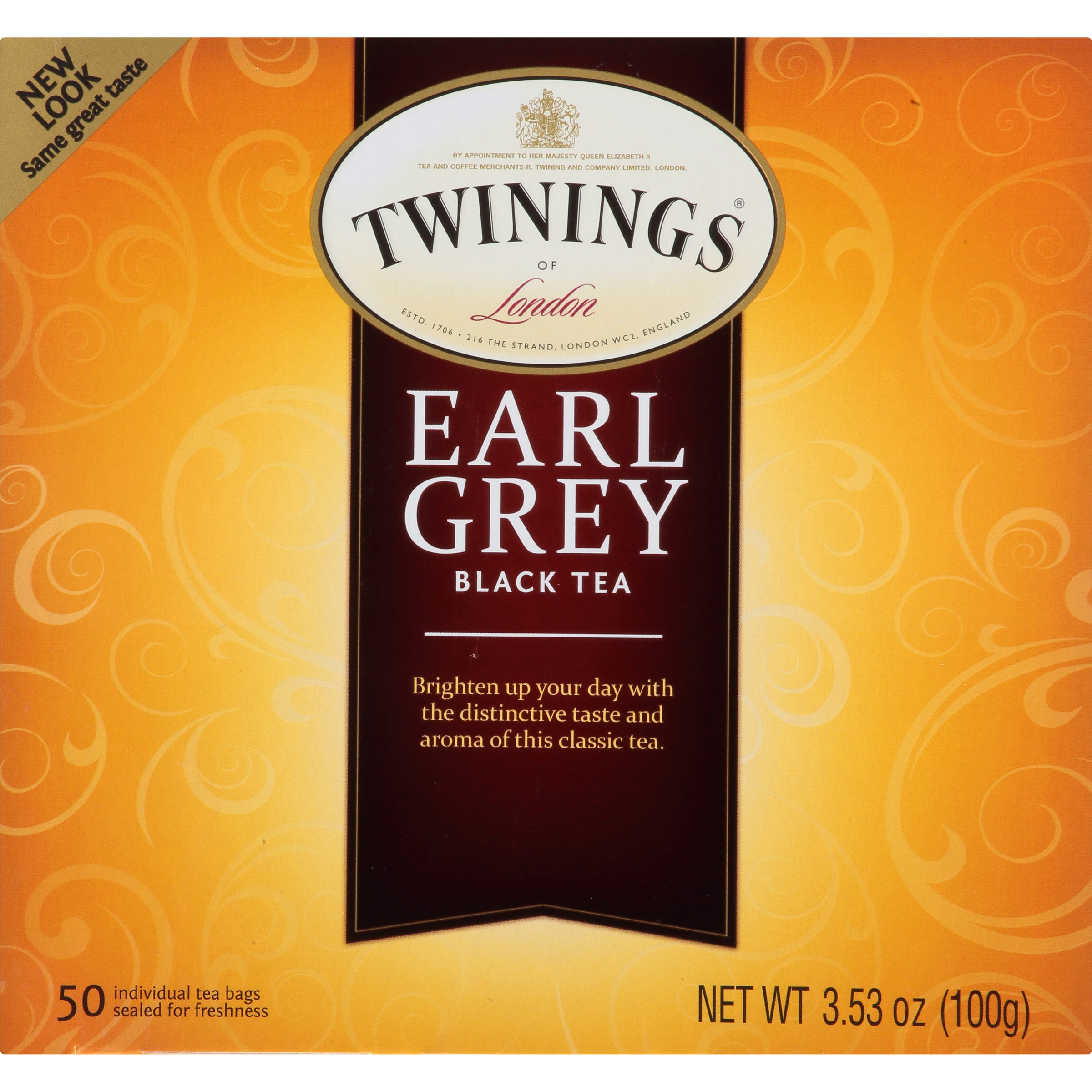 twinings of london classics earl grey tea 50 ct walmartcom