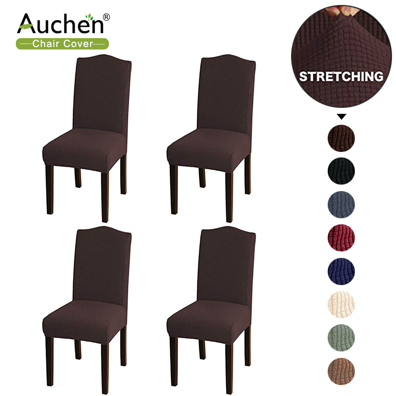Details about  /Removable Stretch Slipcovers Dining Room Chair Cover Elastic Seat Cover