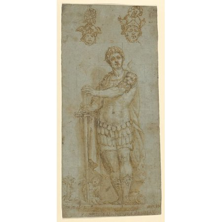 Figure in Roman Dress Poster Print by Anonymous Italian 16th century (18 x 24) - Roman Dresses