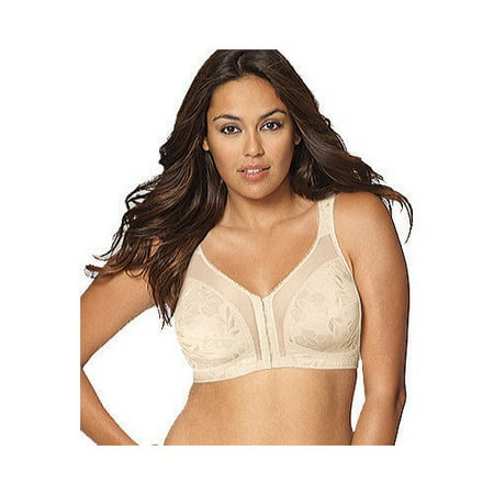 6832432663b8d Playtex - Womens 18 Hour  Easier On  Front-Close Wirefree Bra with Flex Back