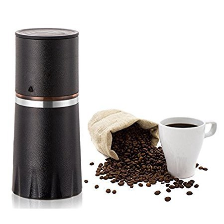 Tdh Manual Coffee Grinder  All In One Filter Coffee Cup For Travel Home Gift  Black