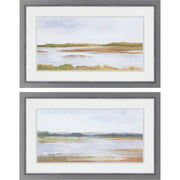 Paragon Wetland Panorama I by Harper 2 Piece Framed Painting Print Set