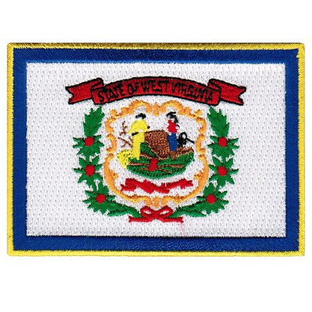 West Virginia Embroidered Iron-On Flag Patch