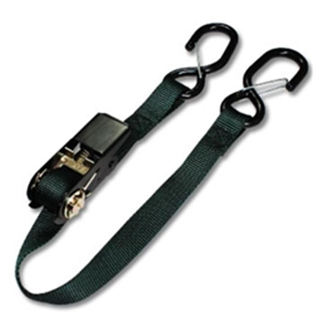 Strapworks RS1N-FN-12FT 1 W inch Basic Line Flat Nylon Ratchet Strap - 12 ft.