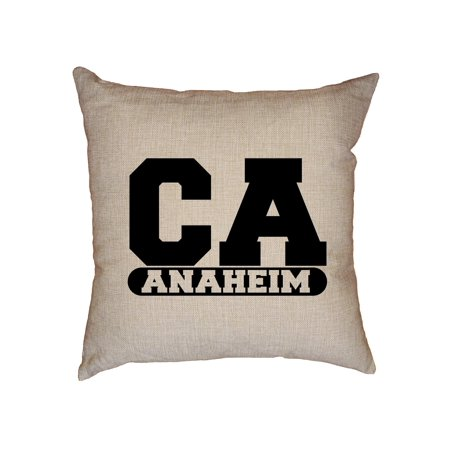 Anaheim, California CA Classic City State Sign Decorative Linen Throw Cushion Pillow Case with Insert](Anaheim City)