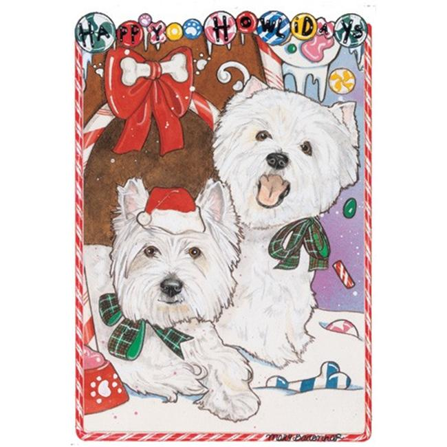 Pipsqueak Productions C926 Holiday Boxed Cards- West Highland Terriers