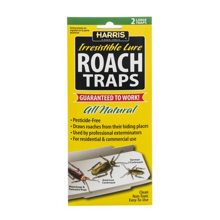 Harris Irresistible Lure Roach Traps  2 0 Ct
