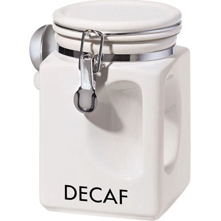Oggi White EZ Grip Decaf Coffee Canister 5829.1