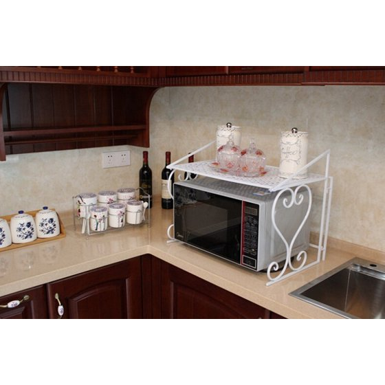 Kitchen Cabinet Microwave Shelf: Metal Microwave Oven Rack /Shelf Kitchen Shelves Counter And Cabinet Shelf By Dazone