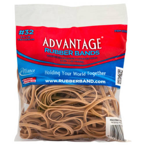 Advantage #32 2-ounce Rubber Bands, Natural Color