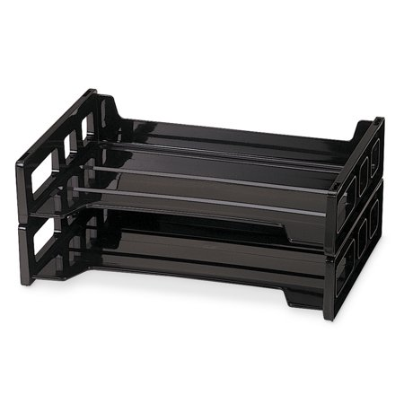Officemate OIC Side Load Letter Tray, Black, 2/Pack (21022) ()