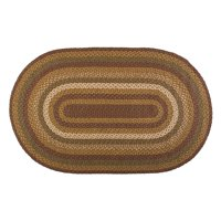 Product Image Moss Green Burgundy Rustic Lodge Primitive Farmhouse Flooring Kilton Braided Jute Oval Accent Area Entry