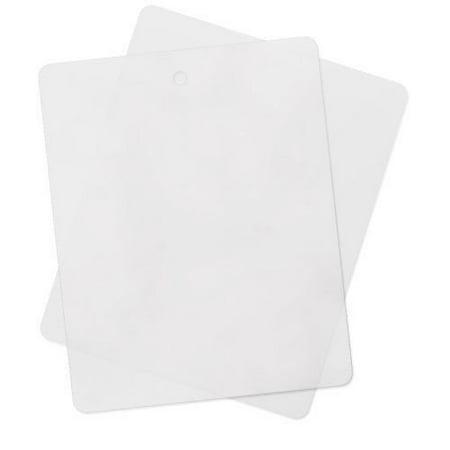(4 Pack) Thin Clear Flexible Cutting Board Chopping Mat, 12