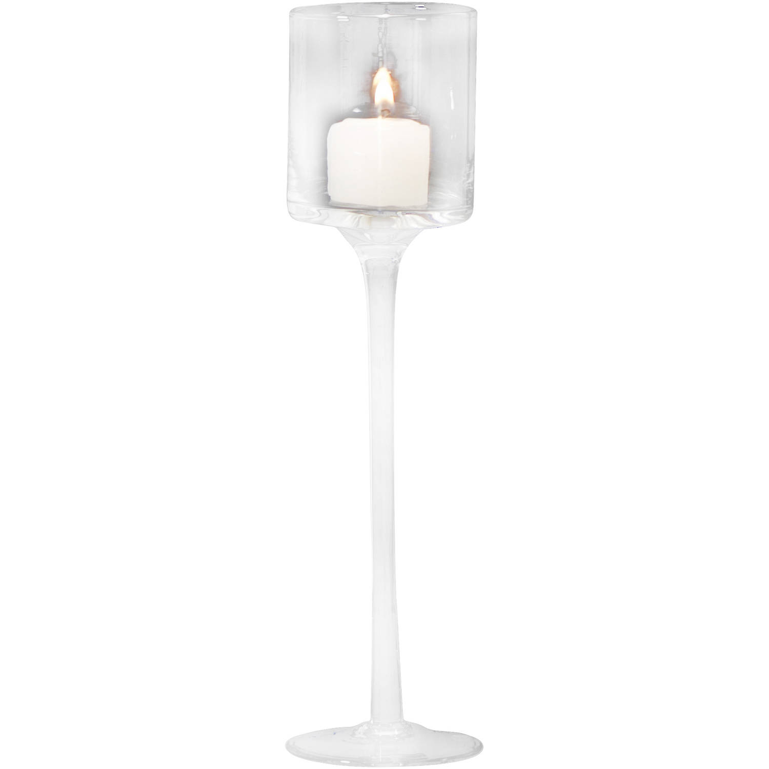 """11"""" Crystal Flute Candle Holder by Generic"""