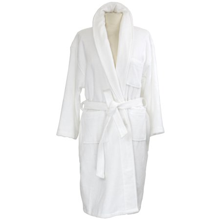 AlpineSwiss Blair Women Cotton Terry Cloth Bathrobe Shawl Collar Velour Spa Robe (Pure Cotton Terry Bathrobe)