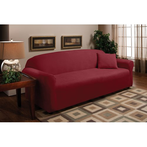 Madison Home Stretch Microfleece Box Cushion Sofa Slipcover