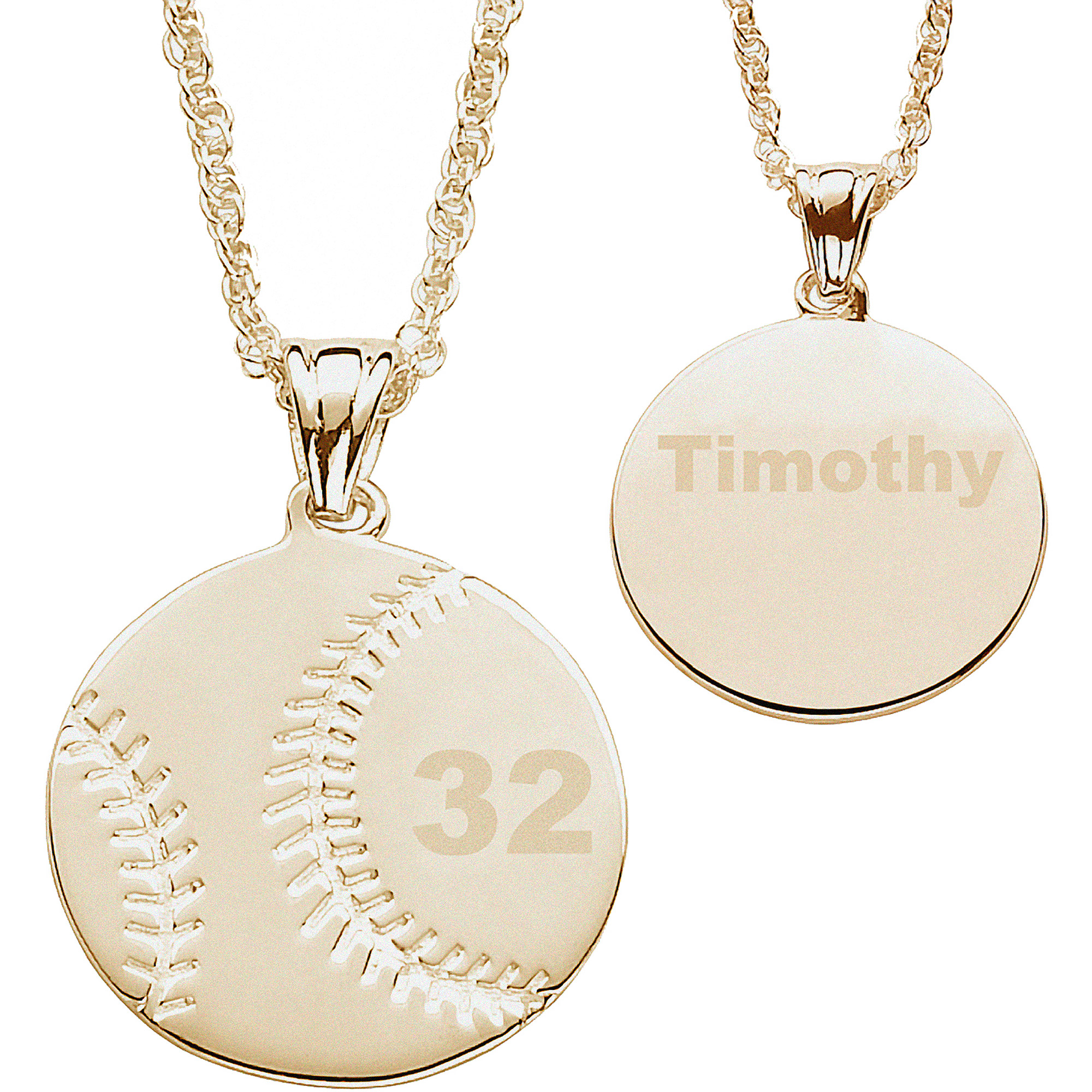 pendant walmart baseball com personalized ip plated gold