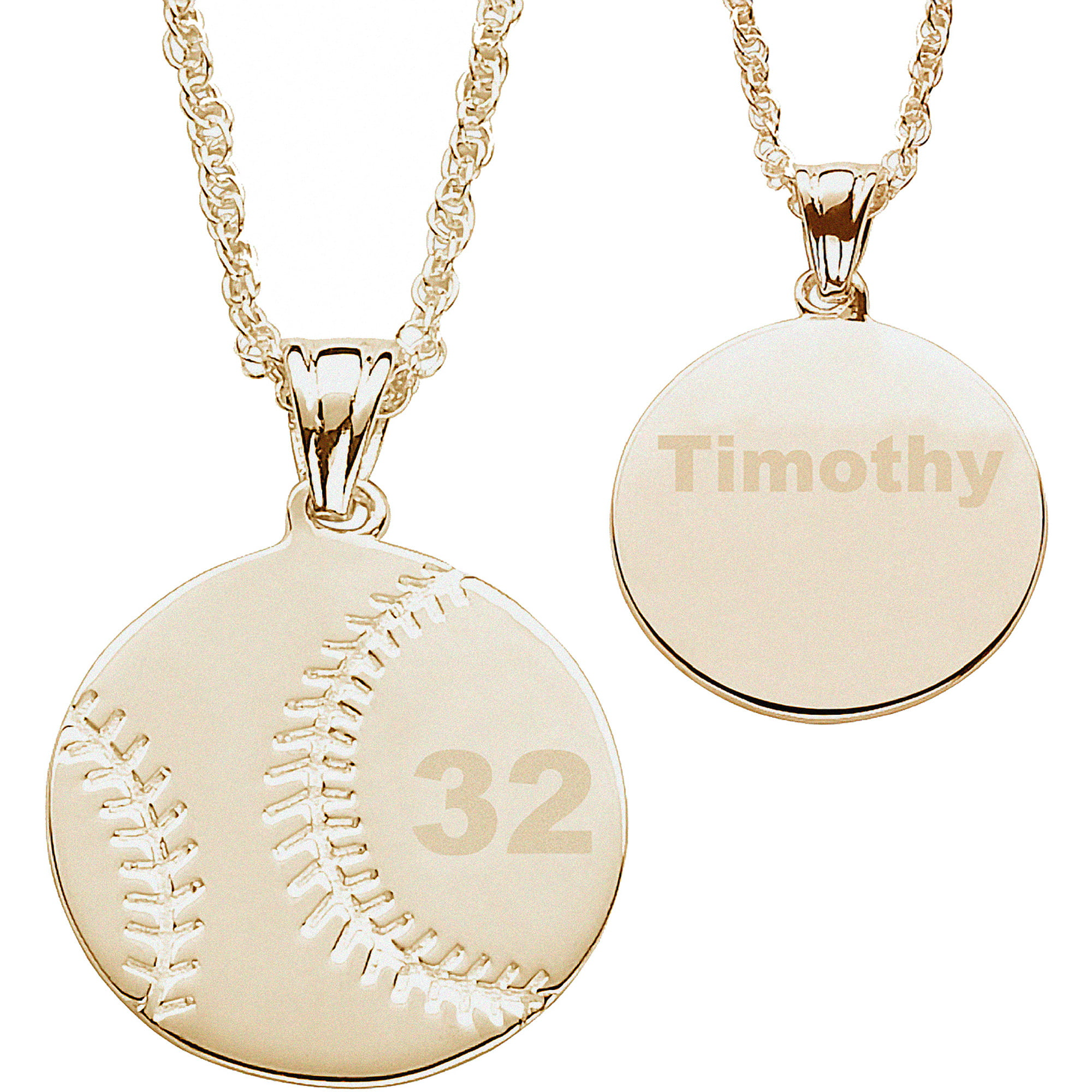 silver personalized necklace discs engraved original product two gold pendant stamped initials hand monogrammed