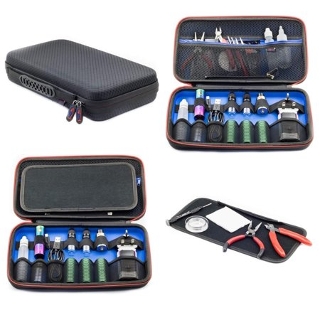Vape Case for e Cig Vaping Tools Batteries Coils Tanks Box Mods Juice Liquid Bottles Accessories Protective Portable Storage Carry Kit (Best Menthol E Cig Juice)